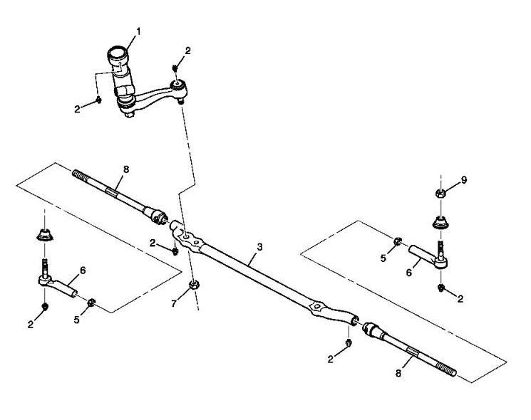 Схема рулевой трапеции ХАММЕР/HUMMER H2.