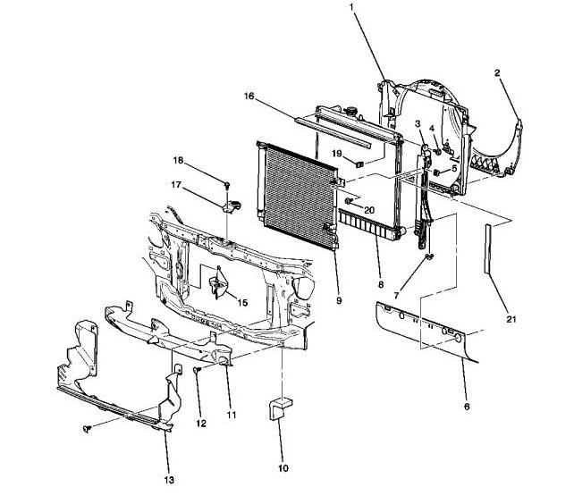 Схема радиаторов Hummer H3 5,