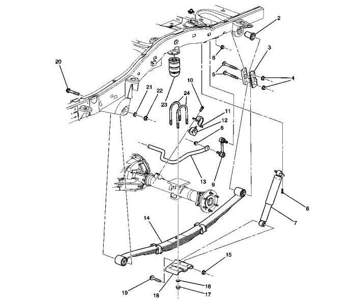 схема деталей задней подвески hummer h3 06.  Автор: Akinojind.  Артикул: 218399415.